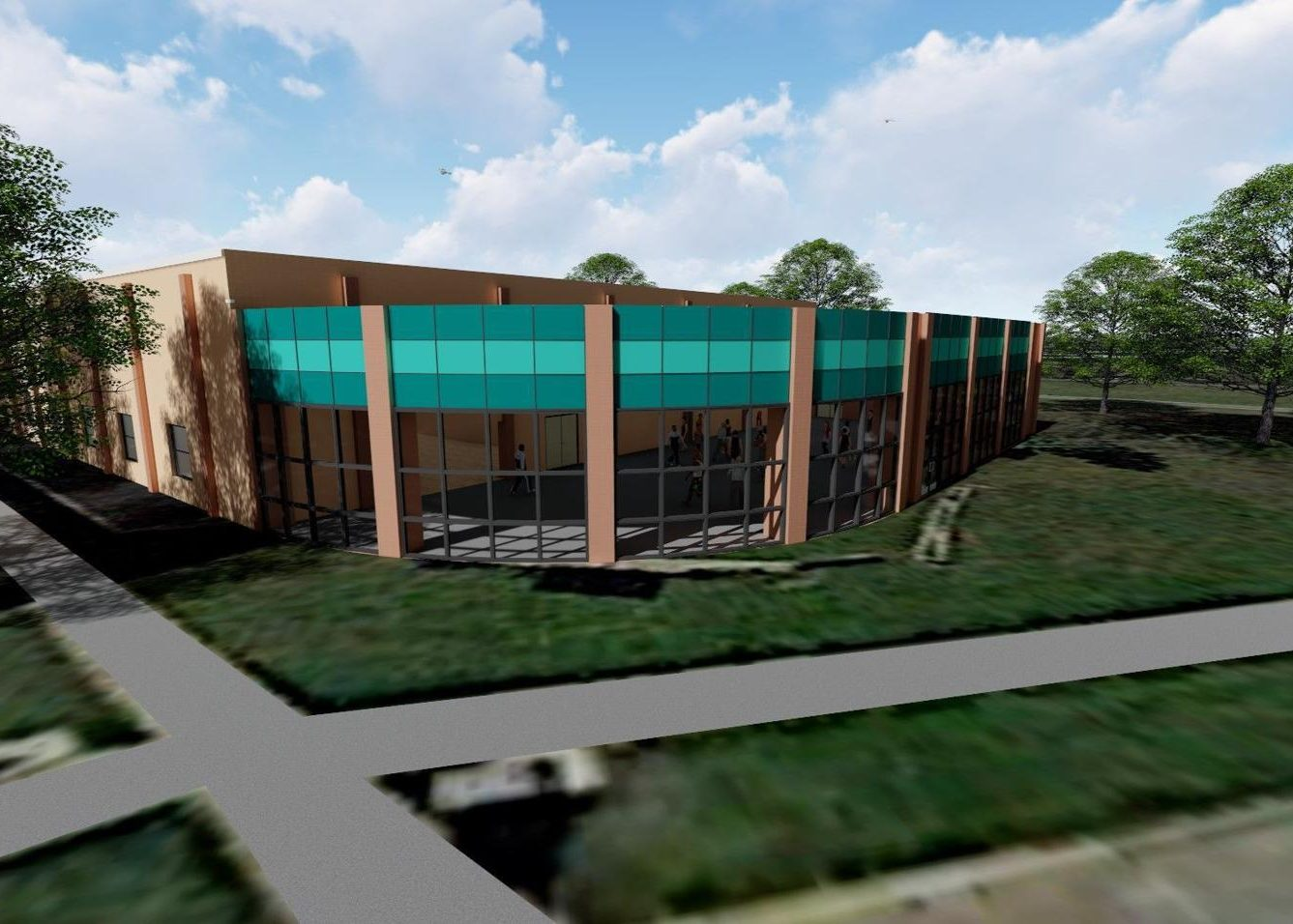 A rendering of the Hammond Family YMCA after renovations to the exterior. An anonymous donor is pledging $500,000 to the capital campaign for the $3.5 million project.
